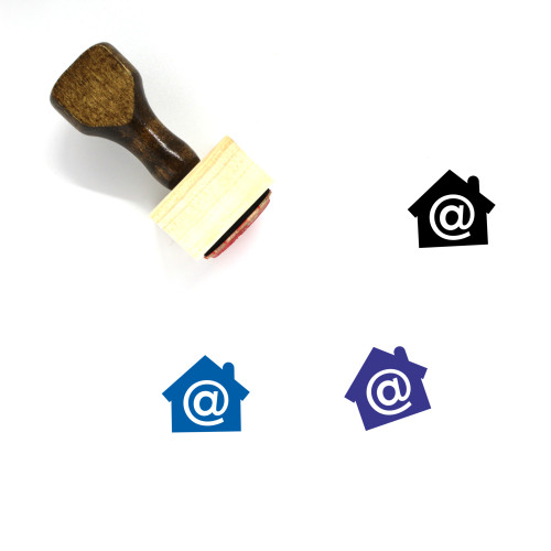 Home Internet Wooden Rubber Stamp No. 26