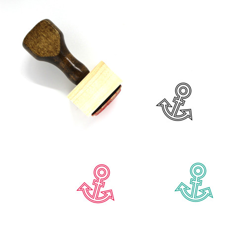 Anchor Wooden Rubber Stamp No. 592