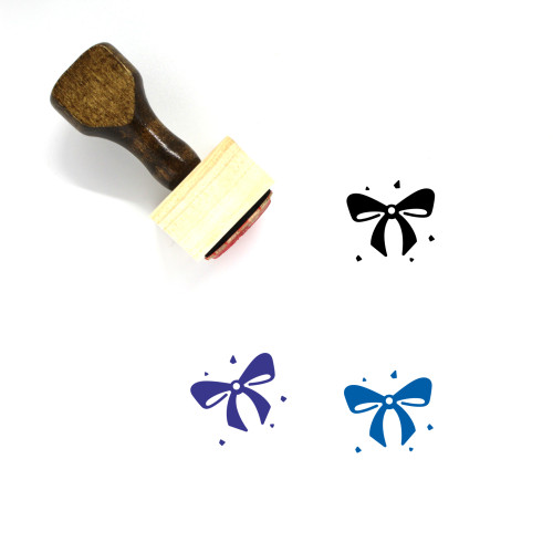 Bow Wooden Rubber Stamp No. 127