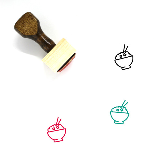 Eat Wooden Rubber Stamp No. 122