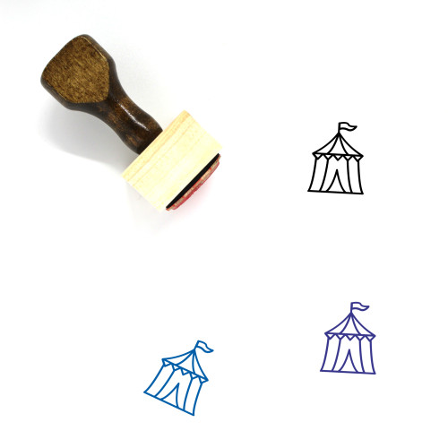 Circus Tent Wooden Rubber Stamp No. 37