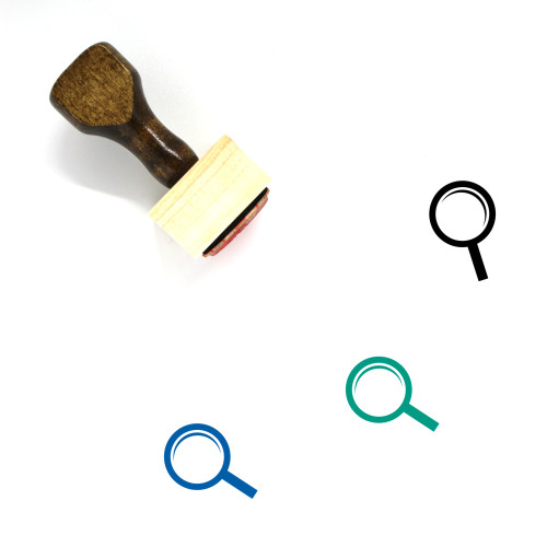 Magnifying Glass Wooden Rubber Stamp No. 284