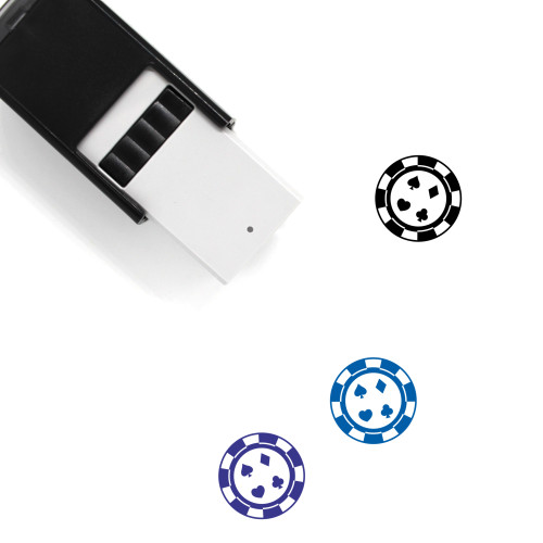 Poker Chip Self-Inking Rubber Stamp No. 5