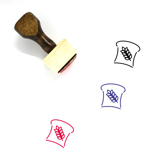 Bread Wooden Rubber Stamp No. 70