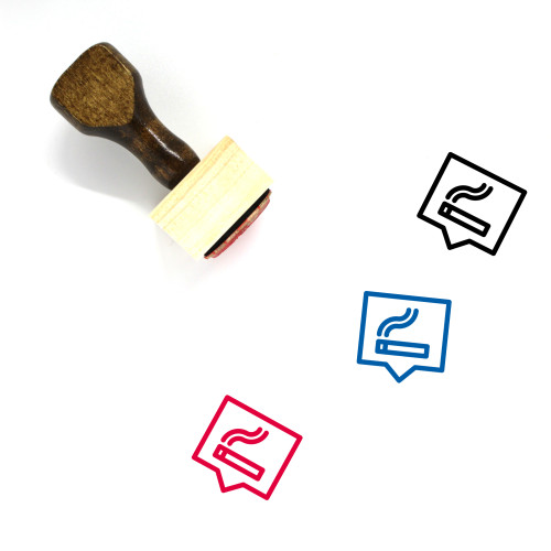 Smoking Area Wooden Rubber Stamp No. 42