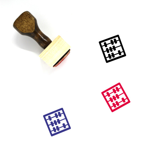 Abacus Wooden Rubber Stamp No. 29