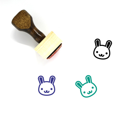 Bunny Wooden Rubber Stamp No. 124
