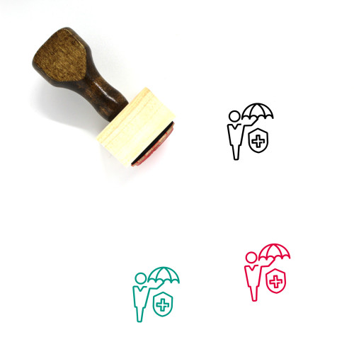 Medical Insurance Wooden Rubber Stamp No. 32