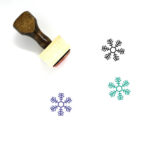 Snowflake Wooden Rubber Stamp No. 249
