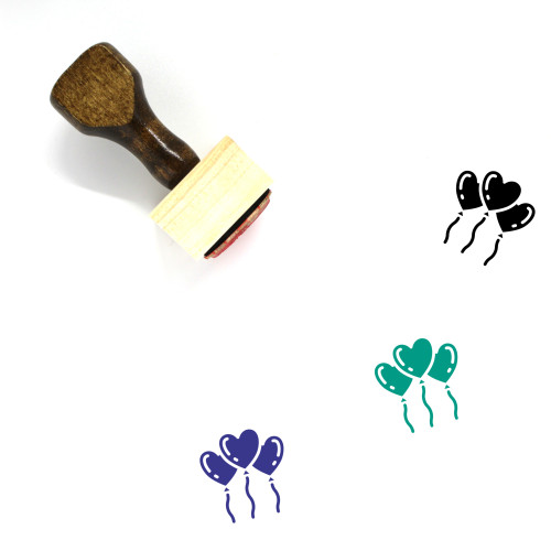 Balloons Wooden Rubber Stamp No. 82