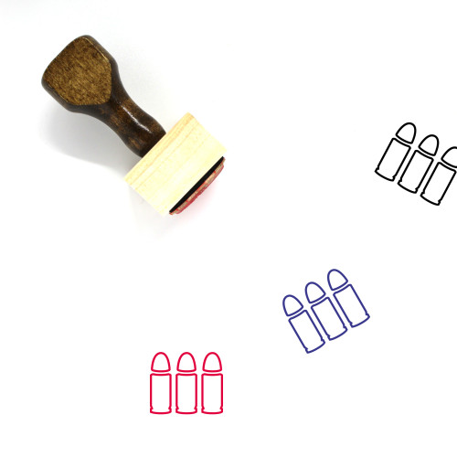Bullets Wooden Rubber Stamp No. 46