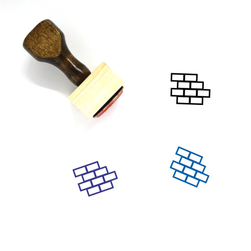 Brick Wall Wooden Rubber Stamp No. 72