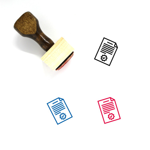 Agreement Wooden Rubber Stamp No. 47