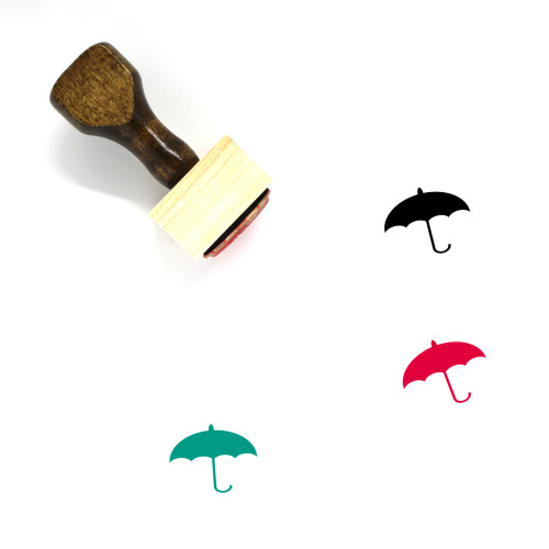 Umbrella Wooden Rubber Stamp No. 212