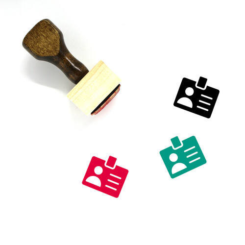 Id Card Wooden Rubber Stamp No. 81