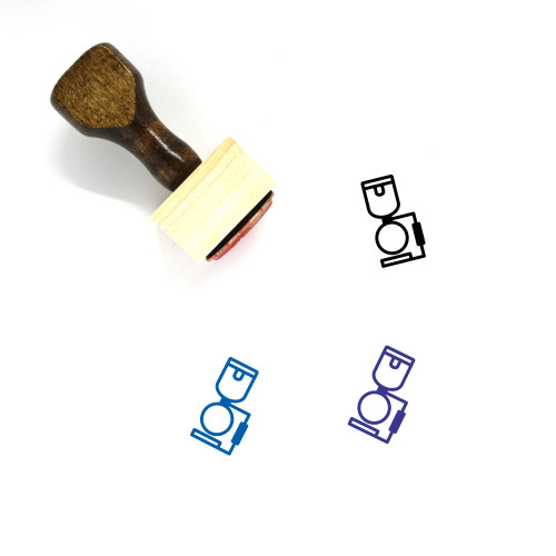 Syphon Wooden Rubber Stamp No. 3