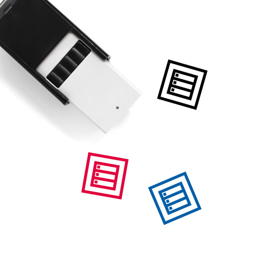Back End Development Self-Inking Rubber Stamp No. 1