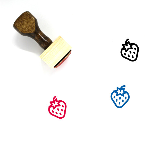 Strawberry Wooden Rubber Stamp No. 127