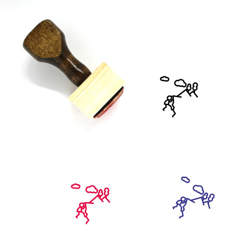 Climber Wooden Rubber Stamp No. 2