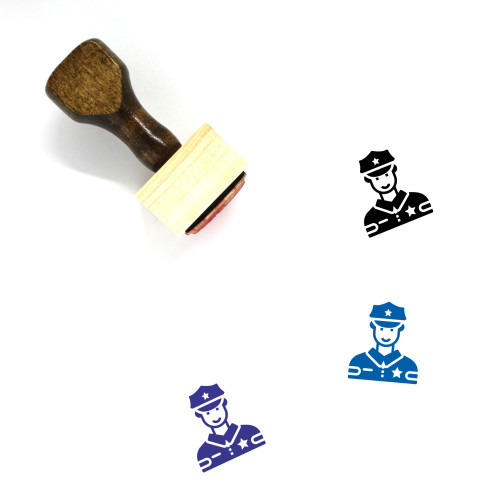 Police Officer Avatar Wooden Rubber Stamp No. 2