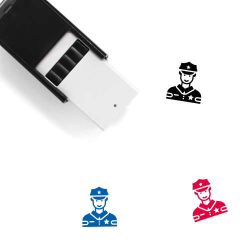 Police Officer Avatar Self-Inking Rubber Stamp No. 2