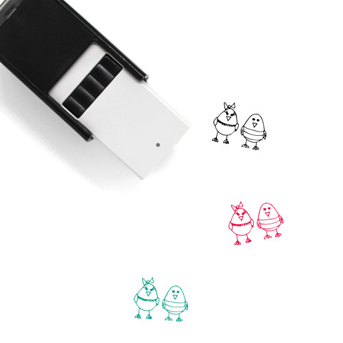 Chickens Self-Inking Rubber Stamp No. 1