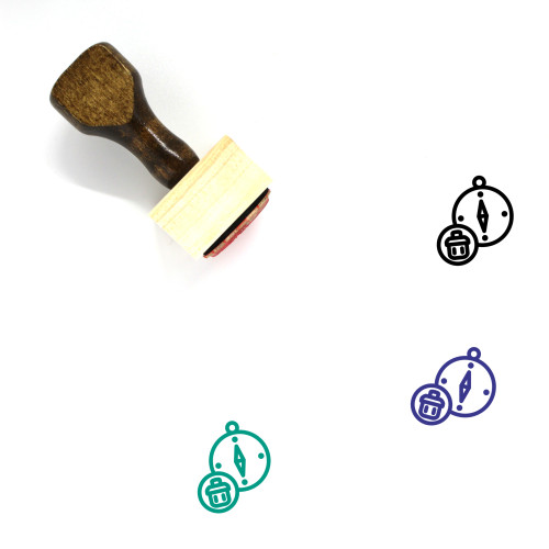 Purge Compass Wooden Rubber Stamp No. 1