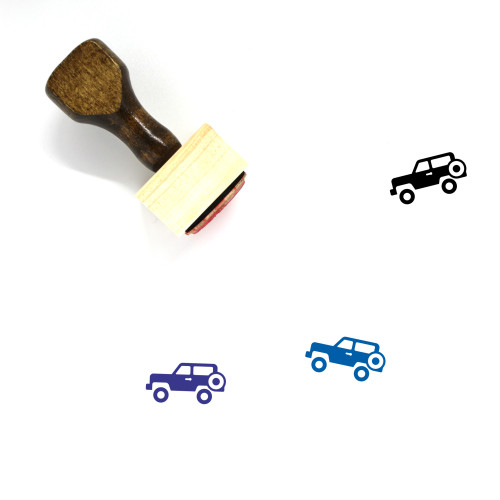 Jeep Wooden Rubber Stamp No. 47