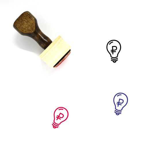 Light Bulb Wooden Rubber Stamp No. 223
