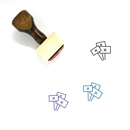 Protest Signs Wooden Rubber Stamp No. 2