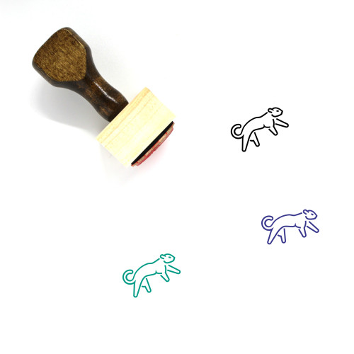 Panther Wooden Rubber Stamp No. 21