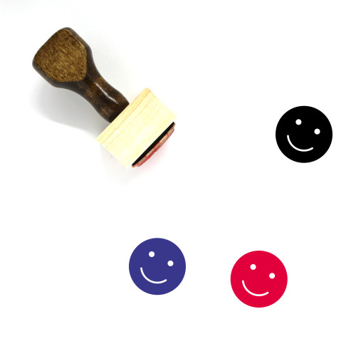 Smile Wooden Rubber Stamp No. 215