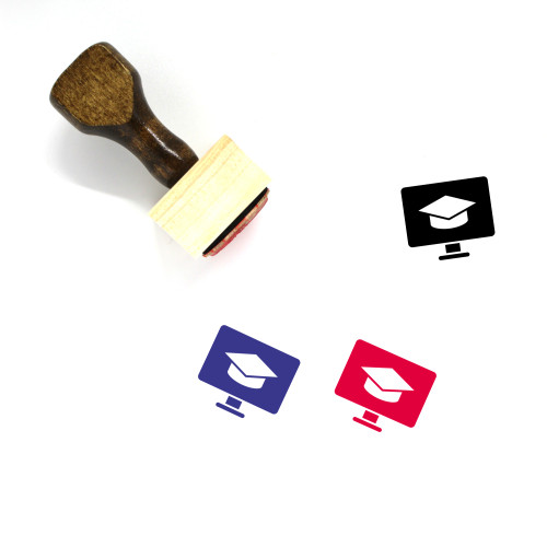Education Monitor Wooden Rubber Stamp No. 2