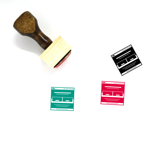Website Landing Page Wooden Rubber Stamp No. 1