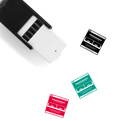 Website Landing Page Self-Inking Rubber Stamp No. 1