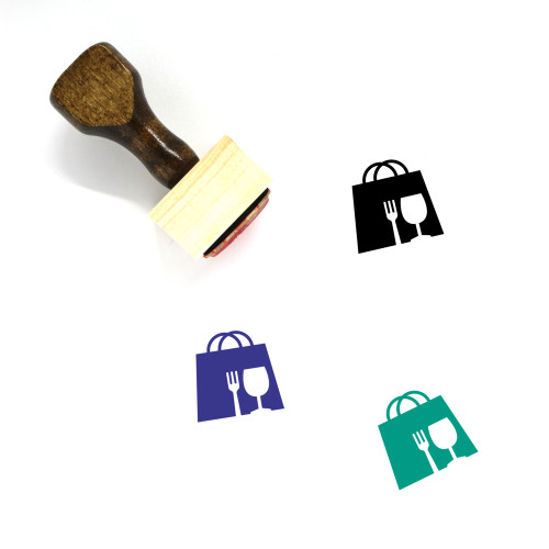 Shopping Bag Wooden Rubber Stamp No. 182