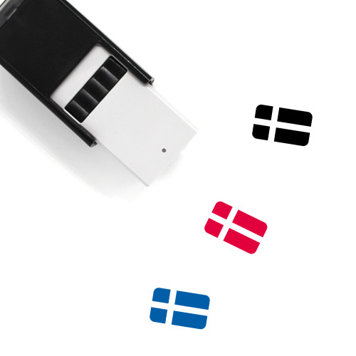 Sweden Flag Self-Inking Rubber Stamp No. 14