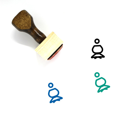 Yoga Pose Wooden Rubber Stamp No. 41