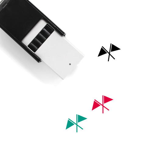 Flags Self-Inking Rubber Stamp No. 45