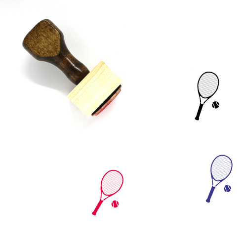 Tennis Wooden Rubber Stamp No. 52