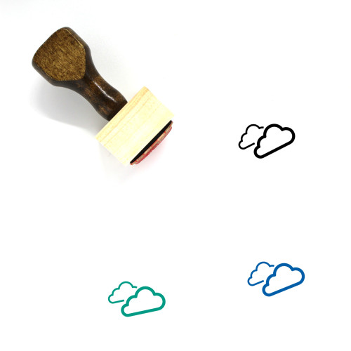 Clouds Wooden Rubber Stamp No. 51