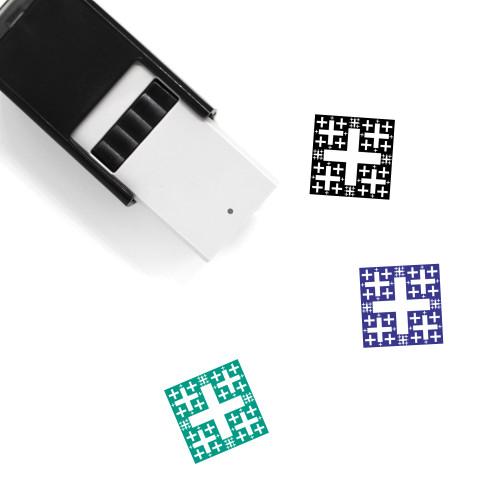 Fractal Self-Inking Rubber Stamp No. 13