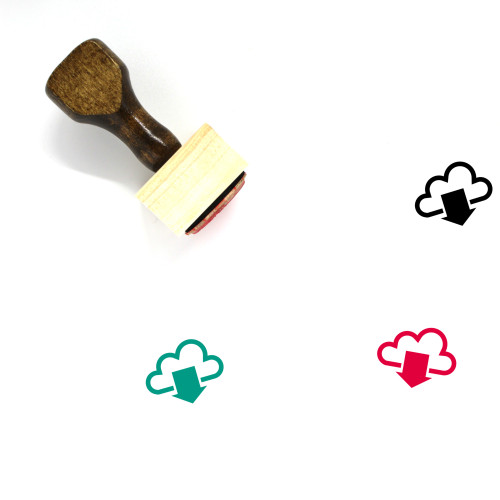 Cloud Wooden Rubber Stamp No. 377