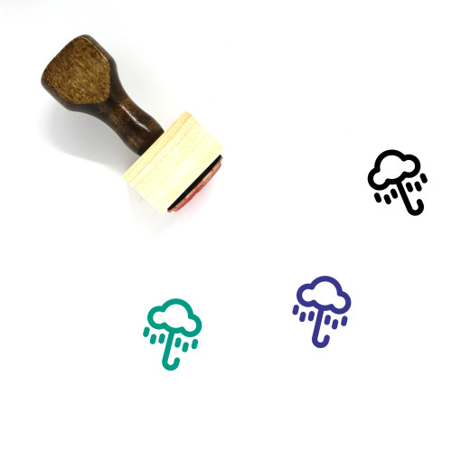 Rain Umbrella Wooden Rubber Stamp No. 1
