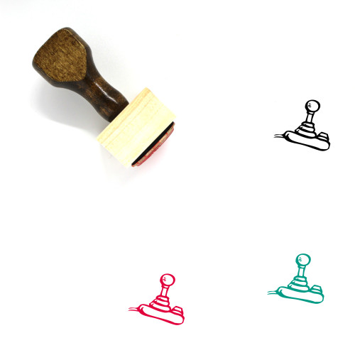 Joystick Wooden Rubber Stamp No. 18
