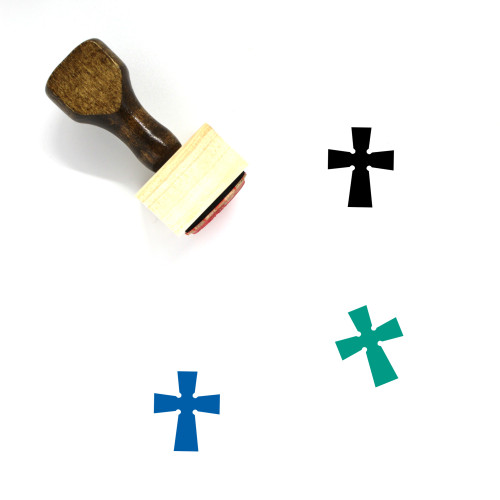 Cross Wooden Rubber Stamp No. 273