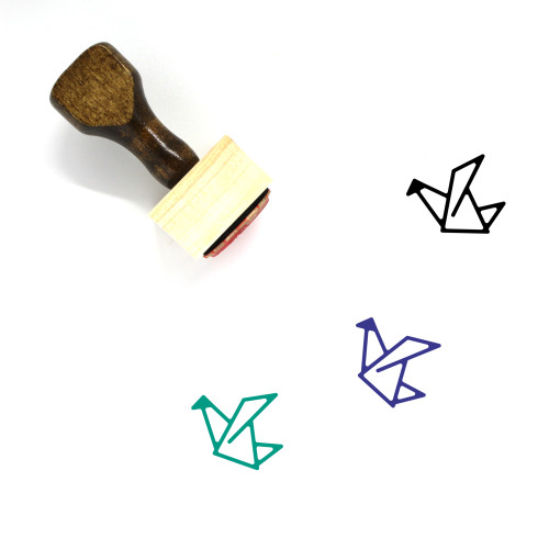 Origami Wooden Rubber Stamp No. 41