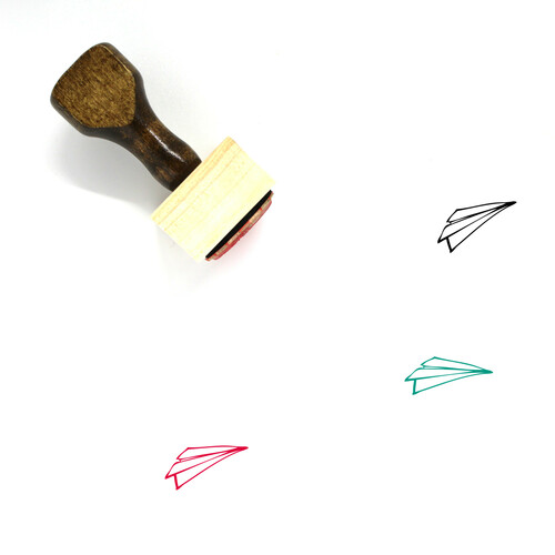 Paper Plane Wooden Rubber Stamp No. 48