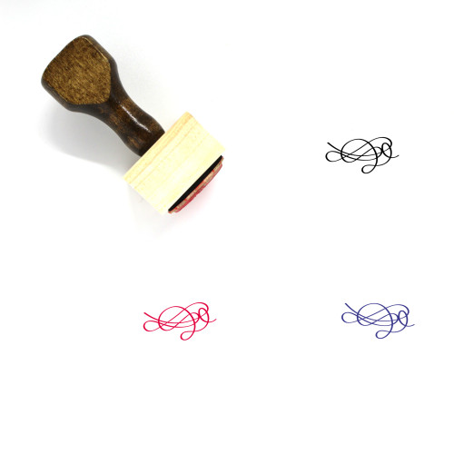 Calligraphy Flourish Wooden Rubber Stamp No. 20