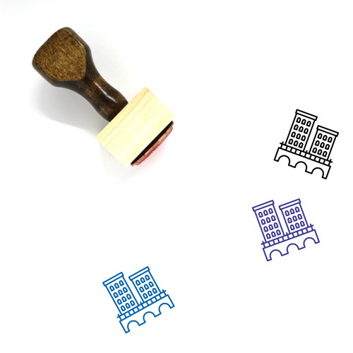 Town Wooden Rubber Stamp No. 129